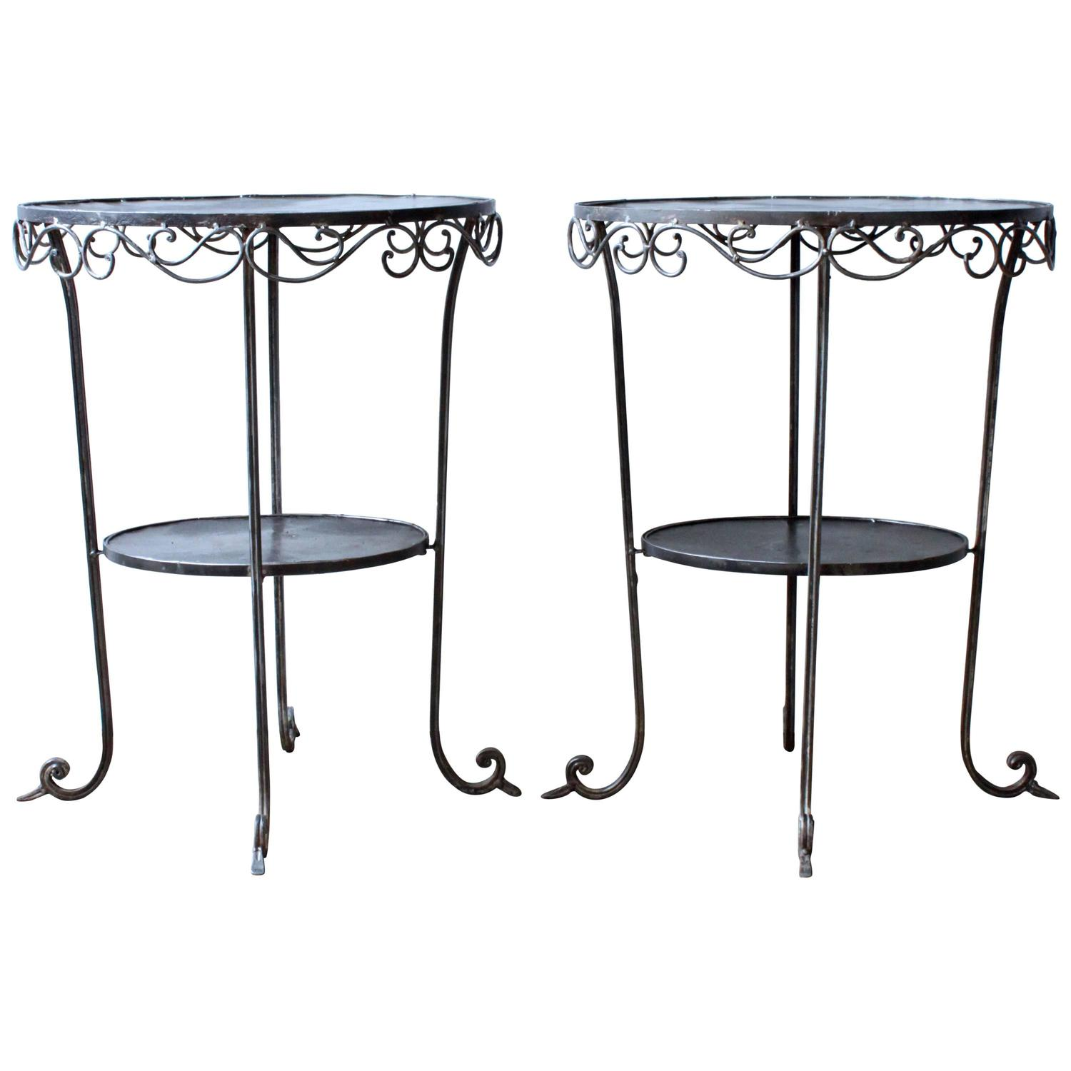 Wrought iron side tables at 1stdibs for Wrought iron side table