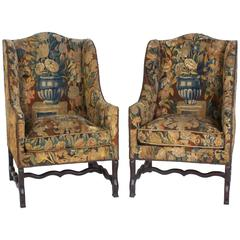 Tapestry Chairs Os De Mouton Bergeres or Armchairs