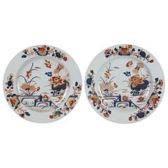Pair of Chinese Export Imari Pattern Plates