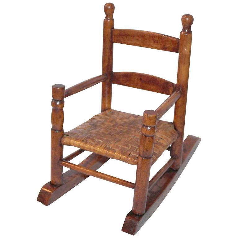 ... 20th Century Salesmans Sample Miniature Rocking Chair at 1stdibs