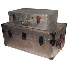 20th Century Aluminium Trunk and Carrying Case