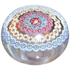 Baccarat Multicolored Candy Paperweight