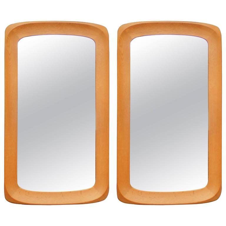 "Pair of Swedish Wall Mirrors ""Glas & Tra"" Hovmantorp"