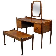 Danish Rosewood Dressing/Vanity Table and Stool
