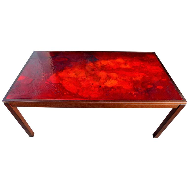 Swedish Enameled Coffee Table by P. Torneman and David Rosen for NK