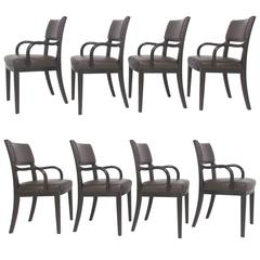 Set of Eight Leather Dining Chairs by Antonio Citterio for B&B Italia