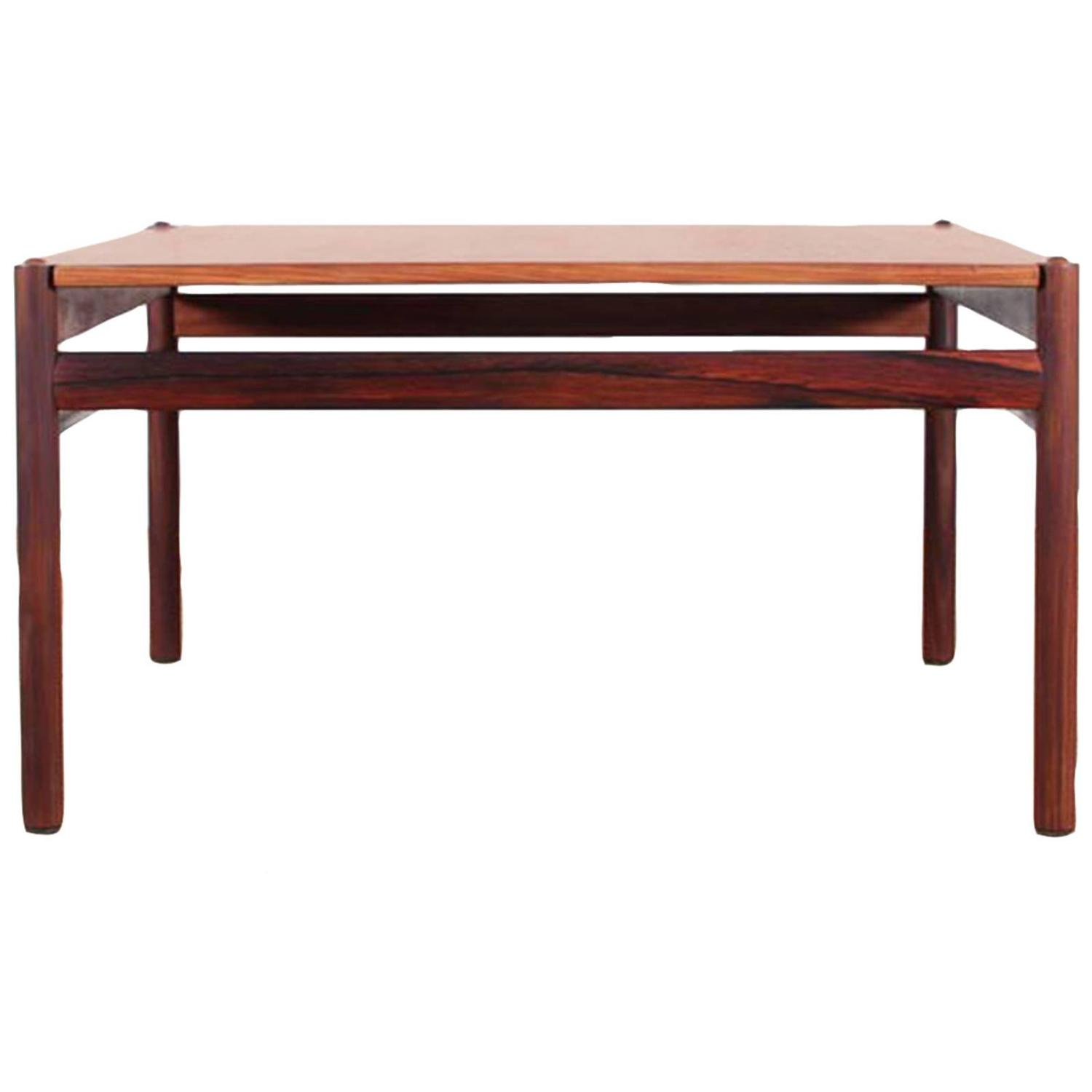 Mid Century Modern Scandinavian Coffee Table In Rio Rosewood By Ole Wanscher At 1stdibs