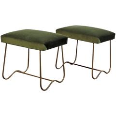 Wonderful 1950s Pair of Stools in the Style of Jean Royère