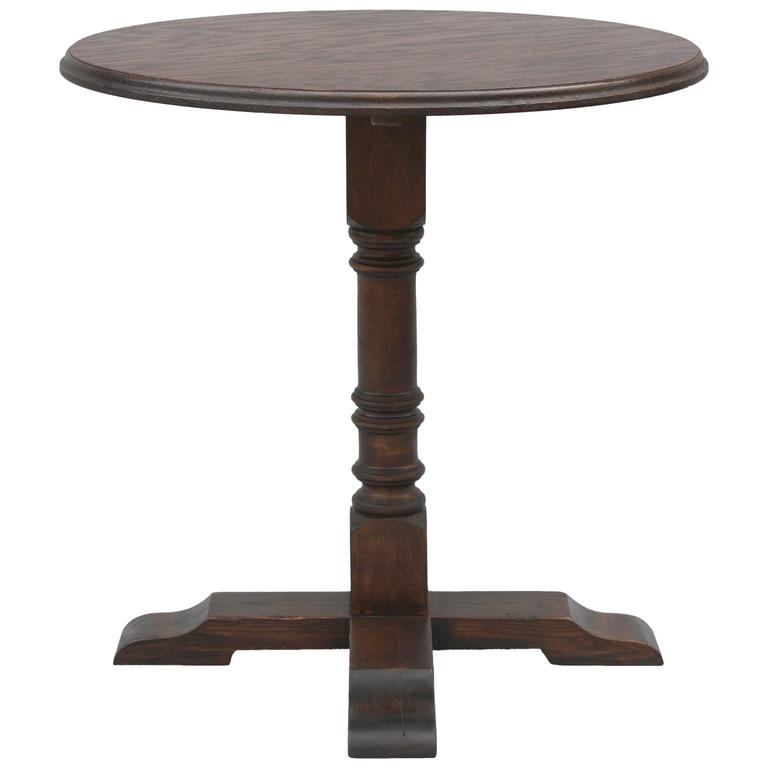 Tall Round Occasional Table, 1920s 1