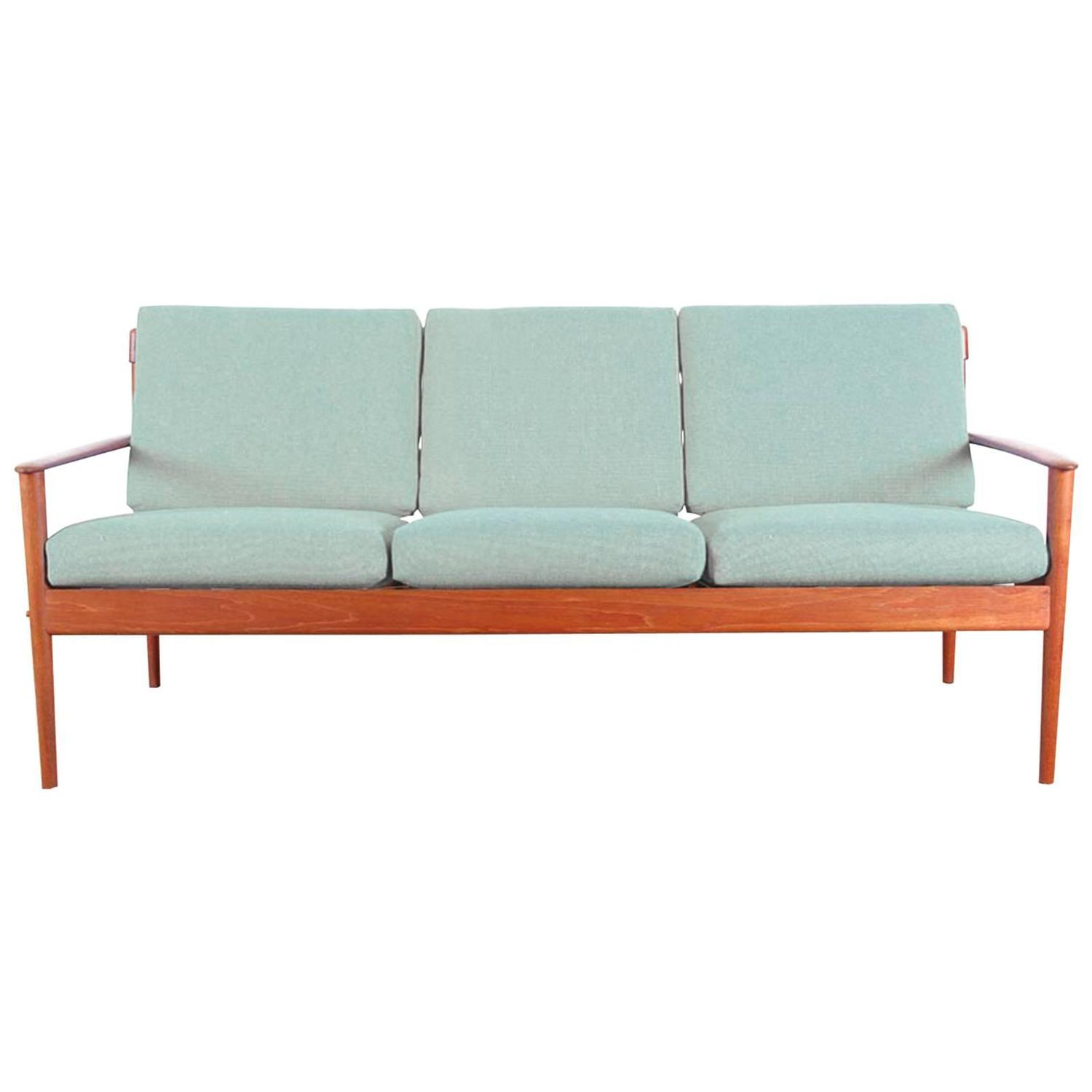 Danish Modern Three Seat Sofa in Teak Model PJ56 3 at 1stdibs