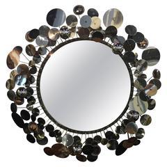 Curtis Jere Silver Raindrops Mirror, 2007