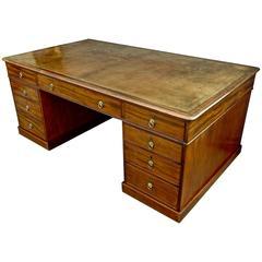Period George III Mahogany Partner's Desk