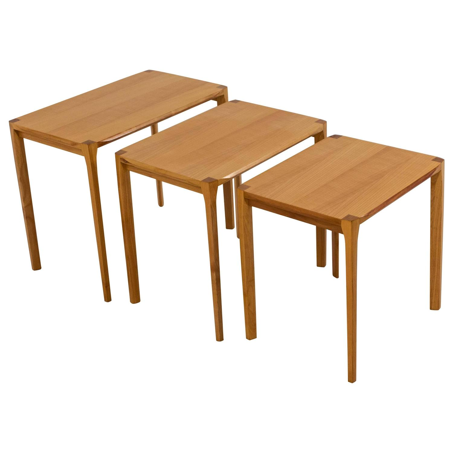 Midcentury Modern Nest of Tables By Rex Raab for Wilhelm Renz For