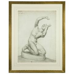 Studio Drawing of a Nude, Signed G. Denis