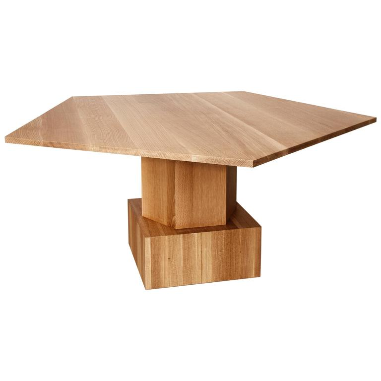 Walnut Dining or Center Table by Tinatin Kilaberidze