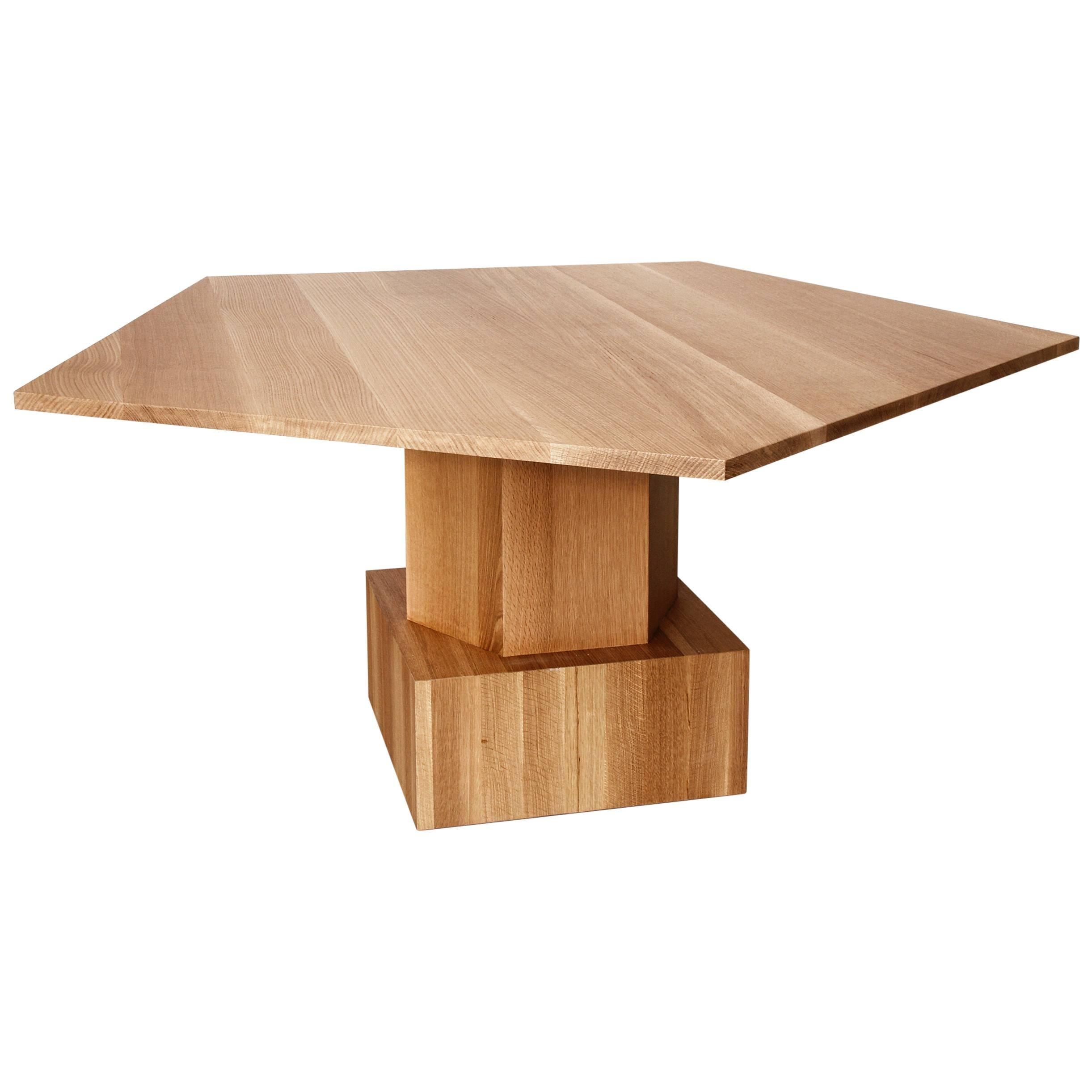 Walnut Dining or Center Table by Tinatin Kilaberidze