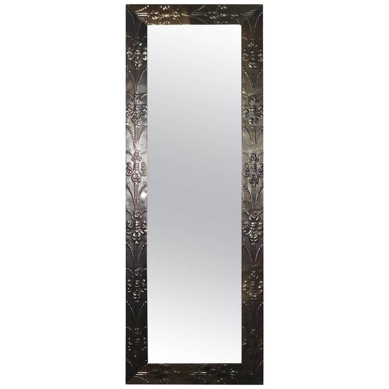 Mid Century Fluer De Lis Metal Framed Mirror At 1stdibs