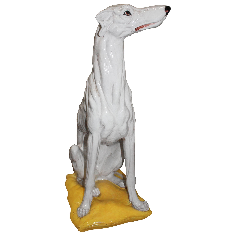 Superb Italian Greyhound Dog Sculpture