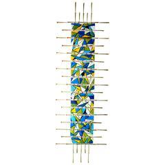 Vivid Contemporary Gilded & Enamel Wall Sculpture by Del & Brenda Williams