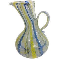 Dino Martens for Aureliano Toso Murano Latticino Glass Vase