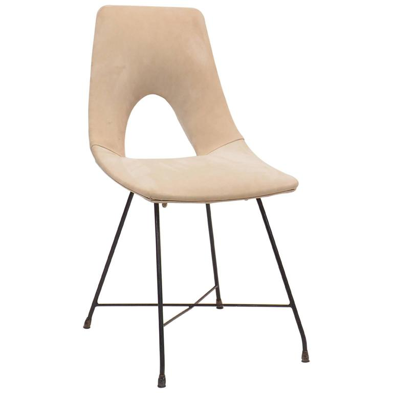 Italian Desk or Side Chair Designed by Augusto Bozzi for Saporiti, 1950s