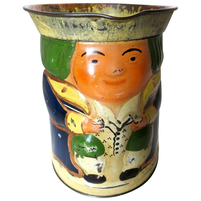 """Toby"" Jug Still Bank and Biscuit Tin, circa 1910 For Sale"