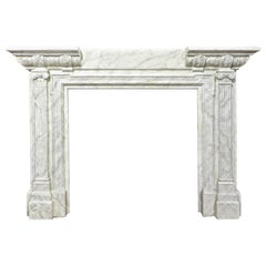 "Large Late 19th Century ""Marbelized"" Painted Oak Fire Surround"
