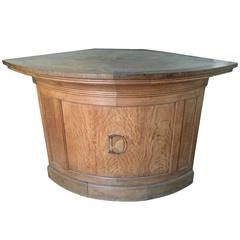 1920s French Oak Counter