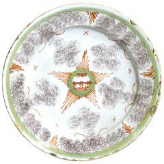 Bristol Delftware Star Plate