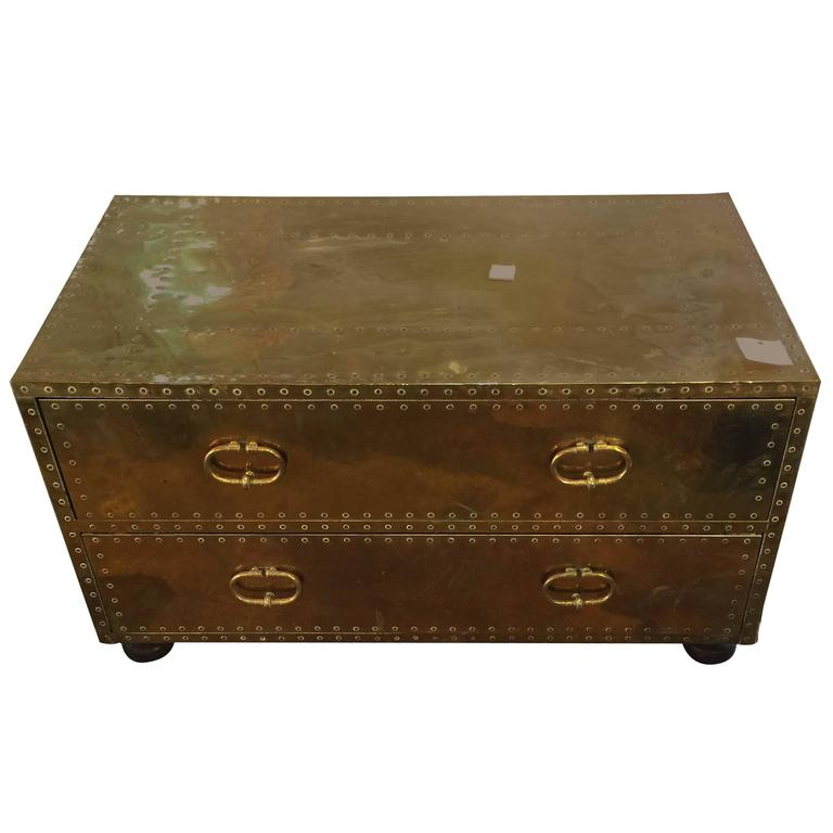 Brass Clad Chest by Sarreid Ltd