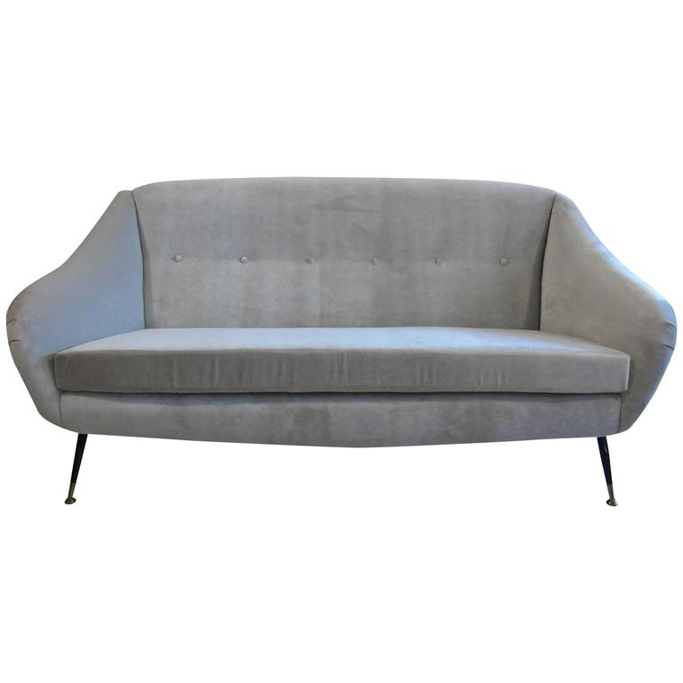 italian sculpted sofa in the style of ico parisi for sale