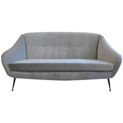 Mid Century Italian Sculpted Sofa in the style of Ico Parisi