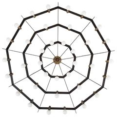 Rare Spiderweb Chandelier