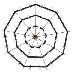 """Rare 'Spiderweb"""" Chandelier by Stilnovo"""