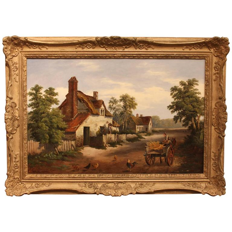 """Near Stratford-on-Avon"" Oil Painting by William Cartwright"
