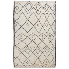 Bespoke Moroccan Rug Made of Natural Un-Dyed Wool