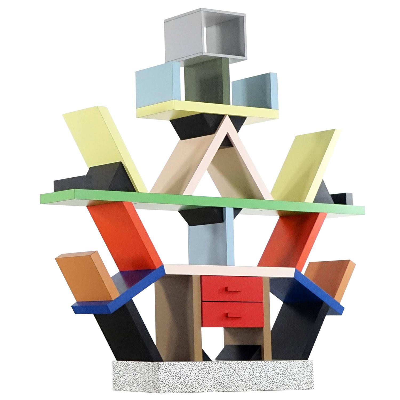 Ettore Sotts Carlton Shelf 1981 By Memphis Italy Room Divider At 1stdibs