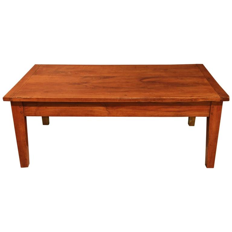 French Provincial Coffee Table For Sale: French Country Cherrywood Coffee Table, Circa 1820 At 1stdibs