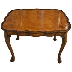 Small Burr Walnut, 1920s, Period Antique Coffee Table