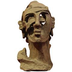 "Terra Cotta Sculpture ""Marianne"" by the Artist Emile Morlaix"