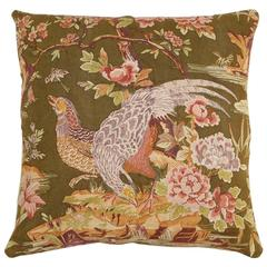 Double-Sided Floral Linen Pillow 26 x 27