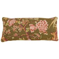 Double-Sided Floral Linen Pillow 11 x 27