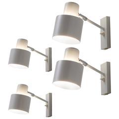 Four Danish Wall Lights