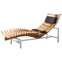 'Skeleton' Chaise Longue in Teak