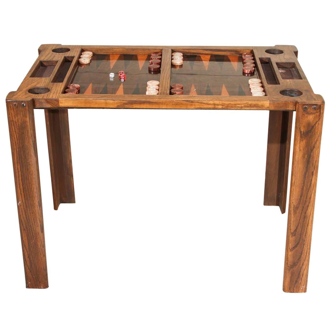 vintage backgammon game table at 1stdibs. Black Bedroom Furniture Sets. Home Design Ideas
