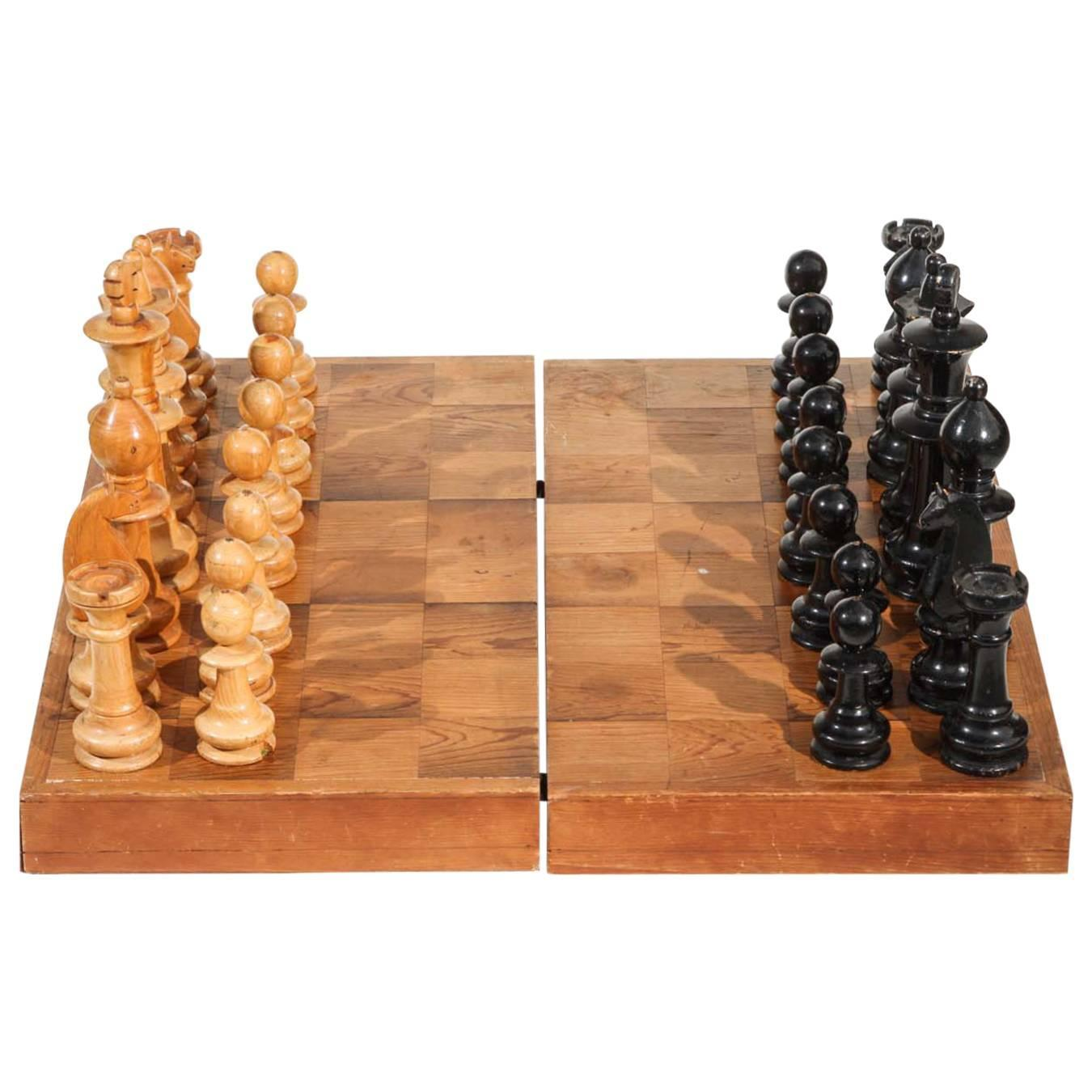 Vintage chess set for sale at 1stdibs - Ceramic chess sets for sale ...