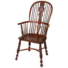 An English Windsor Armchair with Crinoline Stretcher, circa 1825