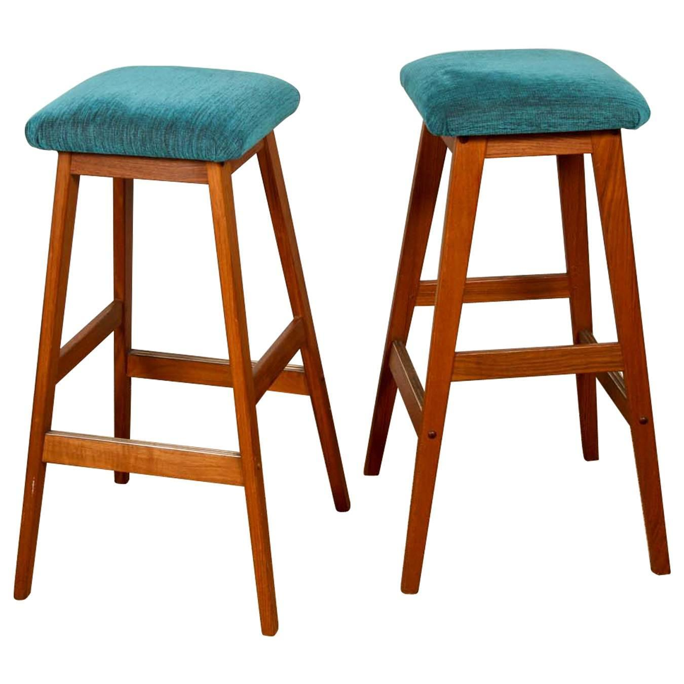 Mid Century Turquoise Bar Stools For Sale At 1stdibs