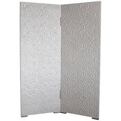 Cream Cloud Two-Panel Lacquer Screen