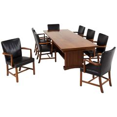 Dining Room Set in Mahogany, Eight Chairs One Table